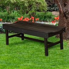 Vineyard Bench Glodea Xquare X60 Wooden Backless Garden Bench Hayneedle