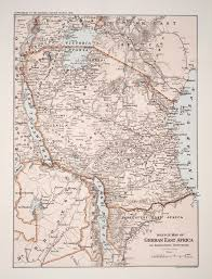 Map Of Eastern Africa by Sketch Map Of German East Africa And Surrounding Territories