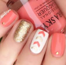 best 25 coral nails gold ideas on pinterest coral nails glitter