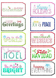 free printable holiday tags the cottage market