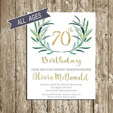 70th birthday invitations templates free choice image invitation