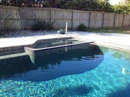 pool with flush edge spa pebble tec tahoe interior