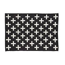 Black And White Checkered Rug All Rugs The Land Of Nod