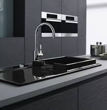 Black Glass Kitchen Sinks Countertops Backsplash Overmount Kitchen Sink Drop In Kitchen