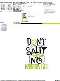 margarita glass svg don u0027t be salty said no margarita ever 4x4 5x7 6x10 hoopmama