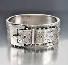 antique sterling silver cuff bracelet images Antique victorian sterling silver buckle cuff bracelet boylerpf jpg