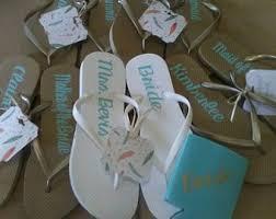 flip flop wedding favors personalized silver flip flops wedding flip flops