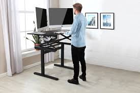 Sit To Stand Desk Ergolux Pro Height Adjustable Sit Stand Desk Black Kogan