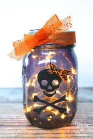 How To Use Mason Jars For Decorating 35 Wicked Ways To Use Mason Jars This Halloween Skeletons Diy