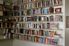 Floating Bookcases Interior Amusing White Color Small Home Library Design White