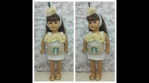 diy starbucks drink halloween costume for ag dolls no sew youtube