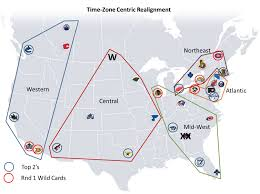 Central Time Zone Map by Another Look At Nhl Reorganization The Oga Blogs