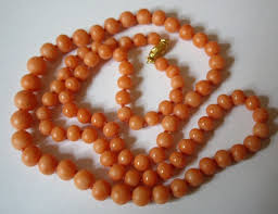 beaded coral necklace images Jewels collecting dust beads JPG