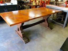 gorgeous copper top dining table de barrio antiguo houston texas