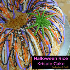 halloween rice krispie treat cake savory experiments