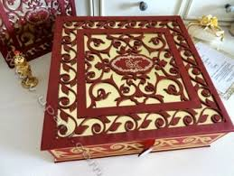 Indian Wedding Card Box Indian Laser Cut Wedding Invitations Box Buy Indian Wedding