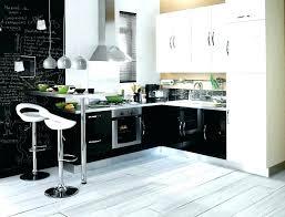 cuisine gris et deco cuisine noir gallery of cuisine noir et bois cuisine noir et