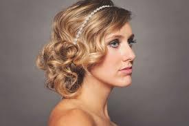 headband waves waves wedding updo with headband