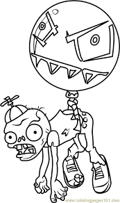 balloon zombie coloring free plants zombies coloring
