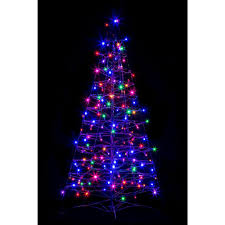 crab pot trees 4 ft pre lit led fold flat outdoor indoor