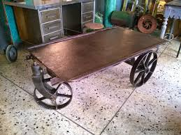 Table Basse Bois Metal Industriel by Table Basse Industrielle Metal Chariot U2013 Phaichi Com