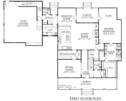 home floor plans with 2 master suites rear view base model