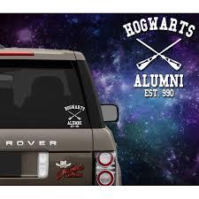 hogwarts alumni bumper sticker hogwarts alumni decal outlaw decals