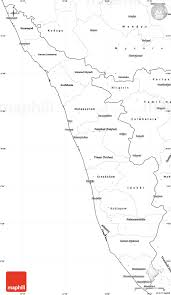 Kerala India Map by Blank Simple Map Of Kerala