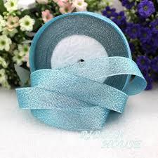 glitter ribbon wholesale aliexpress buy 25 yards roll 1 25mm sky blue metallic