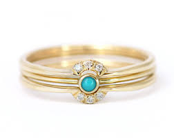 Black Diamond Wedding Ring Sets by Diamond U0026 Turquoise Ring Wedding Ring Set Turquoise