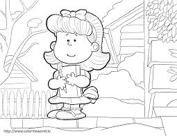 little red haired pdf printable coloring page peanuts