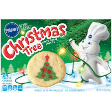 pillsbury ready to bake christmas tree shape sugar cookies 24