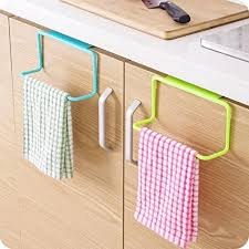 kitchen cabinet towel rack amazon com binmer tm towel rack hanging holder organizer bathroom