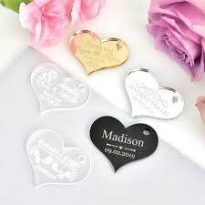 Engravable Wedding Gifts Engraved Acrylic U201cheart U201d Wedding Gift Tags Heart Gift Tags For