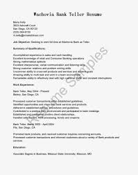 Bank Teller Resume Cover Letter Bank Teller Without Experience Templates Throughout