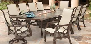 Patio Dining Set With Fire Pit - villa bianca collection castelle luxury outdoor furniture