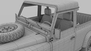 land rover defender 90 interior land rover defender 90 pick up w interior rev by dragosburian