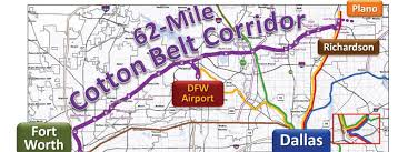 Dfw County Map Richardson On Track With Cotton Belt Rail Line Richardson Living