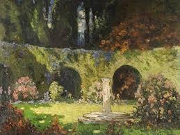 in an old world garden