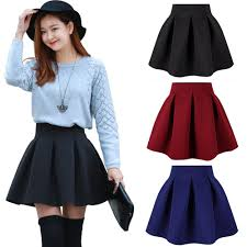 new women skirt space cotton black mini short skirt fall