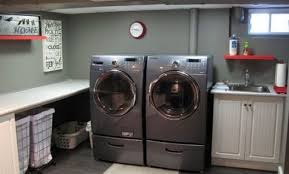 Ideas For Unfinished Basement Unfinished Basement Laundry Room Ideas Nuhome Designs