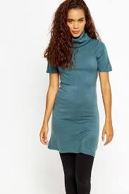 roll neck short sleeve jumper dress just 5