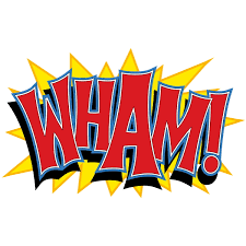 wham comic book sound cut out floor decal floor stickers