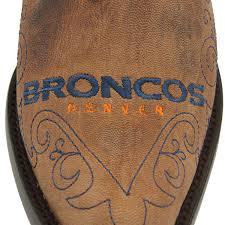 womens boots denver denver broncos womens embroidered cowboy boots brown nflshop com