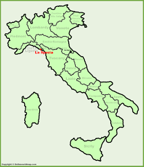 Italy France Map by La Spezia Location On The Italy Map