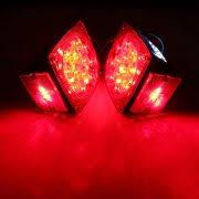 led boat trailer lights 2pcs 12v red led square side marker tail brake stop turn light truck