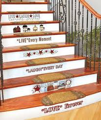 country home stairs decal set primitive stars berries folk art