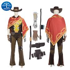 Mcr Halloween Costume Aliexpress Buy Manluyunxiao Game Ow Jesse Mccree Cosplay
