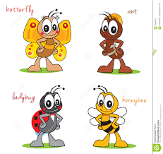 ladybird butterfly and bee royalty free stock image image 3279716