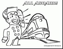incredible train conductor hat coloring page with train coloring